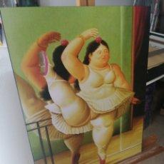 Varios objetos de Arte: FERNANDO BOTERO - GORDITA DE BALLET CUADRO REPRODUCCION SOBRE BASTIDOR DE MADERA (RETABLO) 70X50 CM. Lote 221251266