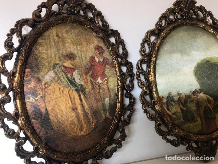 Varios objetos de Arte: Lote de cuadros de época de tela - Foto 2 - 221252031