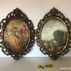 Varios objetos de Arte: LOTE DE CUADROS DE ÉPOCA DE TELA. Lote 221252031