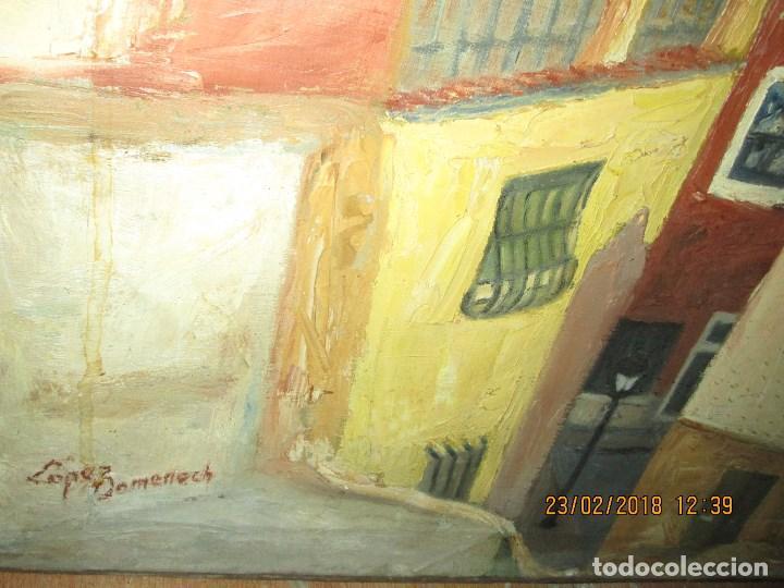 Varios objetos de Arte: pintura IMPRESIONISTA antigua LOPEZ DOMENECH ALICANTE exposiciion ARTE NACIONAL EDUCACION DESCANSO - Foto 2 - 221436917