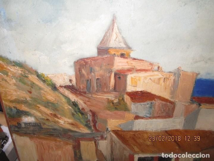 Varios objetos de Arte: pintura IMPRESIONISTA antigua LOPEZ DOMENECH ALICANTE exposiciion ARTE NACIONAL EDUCACION DESCANSO - Foto 4 - 221436917