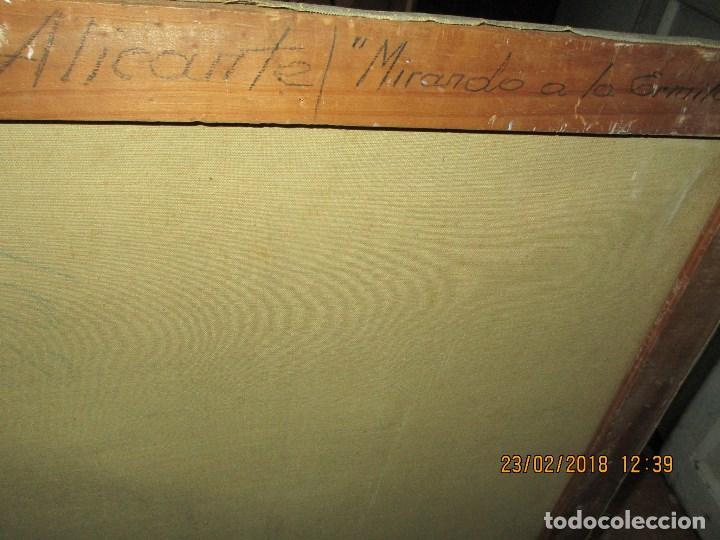 Varios objetos de Arte: pintura IMPRESIONISTA antigua LOPEZ DOMENECH ALICANTE exposiciion ARTE NACIONAL EDUCACION DESCANSO - Foto 7 - 221436917