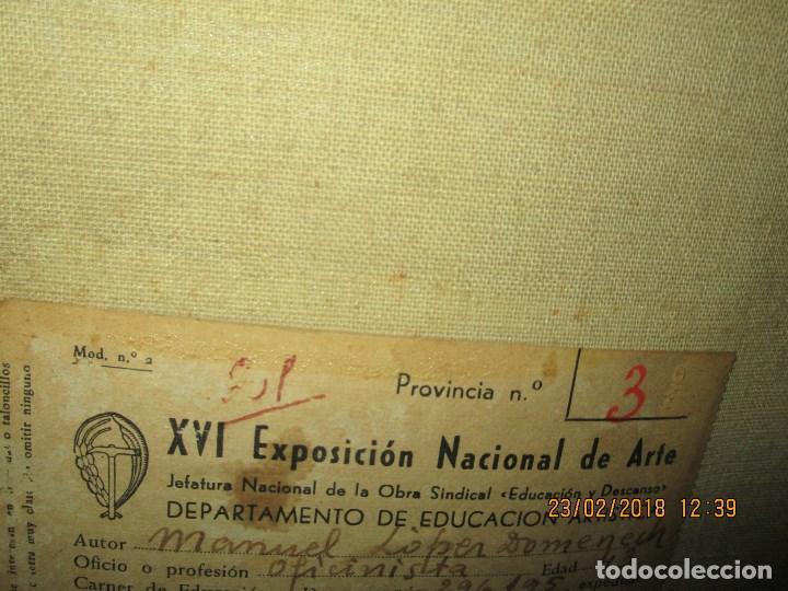Varios objetos de Arte: pintura IMPRESIONISTA antigua LOPEZ DOMENECH ALICANTE exposiciion ARTE NACIONAL EDUCACION DESCANSO - Foto 9 - 221436917