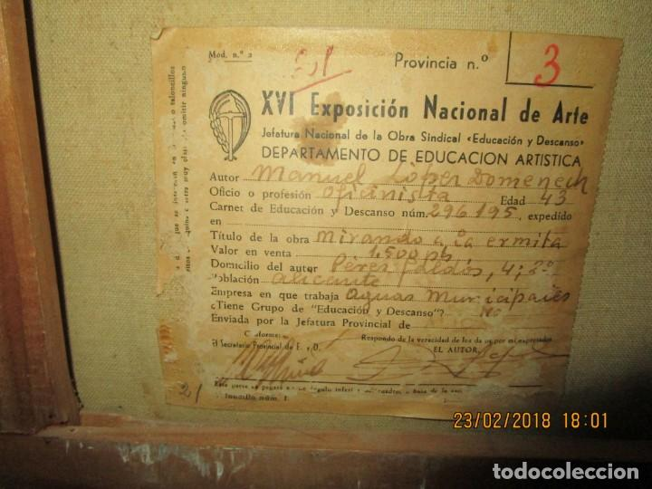 Varios objetos de Arte: pintura IMPRESIONISTA antigua LOPEZ DOMENECH ALICANTE exposiciion ARTE NACIONAL EDUCACION DESCANSO - Foto 12 - 221436917