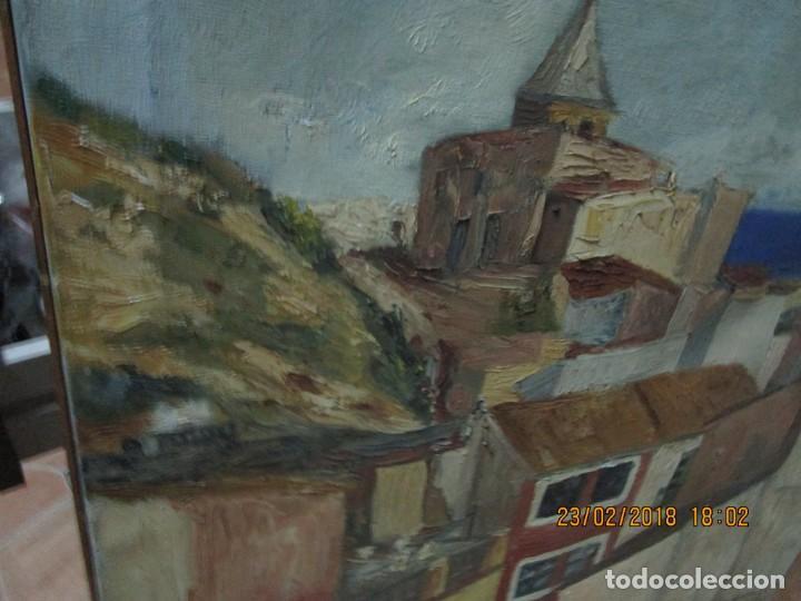Varios objetos de Arte: pintura IMPRESIONISTA antigua LOPEZ DOMENECH ALICANTE exposiciion ARTE NACIONAL EDUCACION DESCANSO - Foto 17 - 221436917