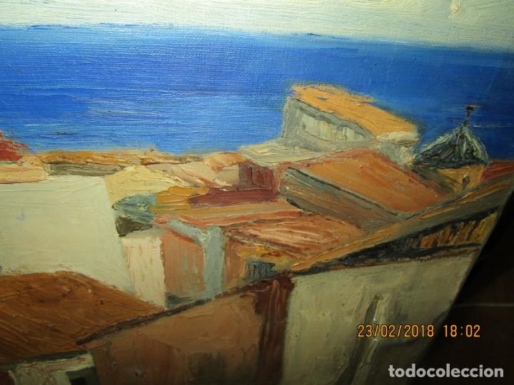 Varios objetos de Arte: pintura IMPRESIONISTA antigua LOPEZ DOMENECH ALICANTE exposiciion ARTE NACIONAL EDUCACION DESCANSO - Foto 5 - 221436917