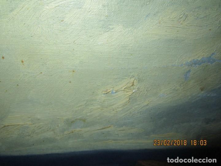 Varios objetos de Arte: pintura IMPRESIONISTA antigua LOPEZ DOMENECH ALICANTE exposiciion ARTE NACIONAL EDUCACION DESCANSO - Foto 19 - 221436917