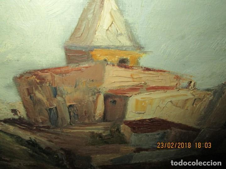 Varios objetos de Arte: pintura IMPRESIONISTA antigua LOPEZ DOMENECH ALICANTE exposiciion ARTE NACIONAL EDUCACION DESCANSO - Foto 20 - 221436917