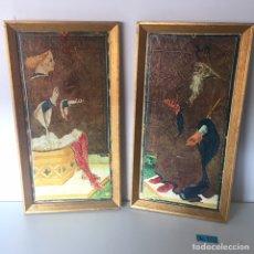 Varios objetos de Arte: LOTE DE CUADROS ANTIGUOS. Lote 221506671
