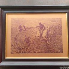 Varios objetos de Arte: CAZA DE LOBOS - CUADRO DE ANTONIO COWALSKI. Lote 221579770