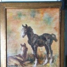 Varios objetos de Arte: ANTIGUO CUADRO FIRMADO. Lote 221627910