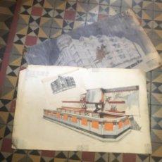 Varios objetos de Arte: (M-R/C) SANT FELIU DE GUIXOLS - ANTEPROYECTO EDIFICIO NOU CASINO LA CONSTÀNCIA - 1 BOCETO ORIGINAL A. Lote 221667903