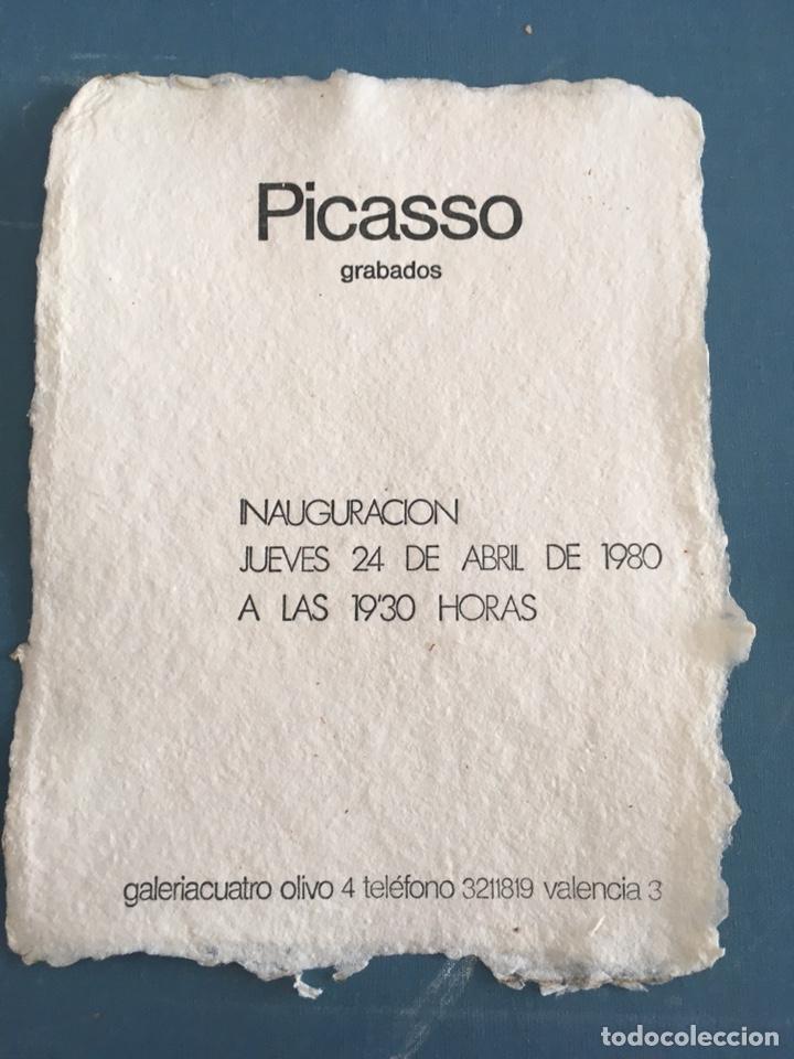 Varios objetos de Arte: Picasso invitación en papel algodon - Foto 2 - 222029837