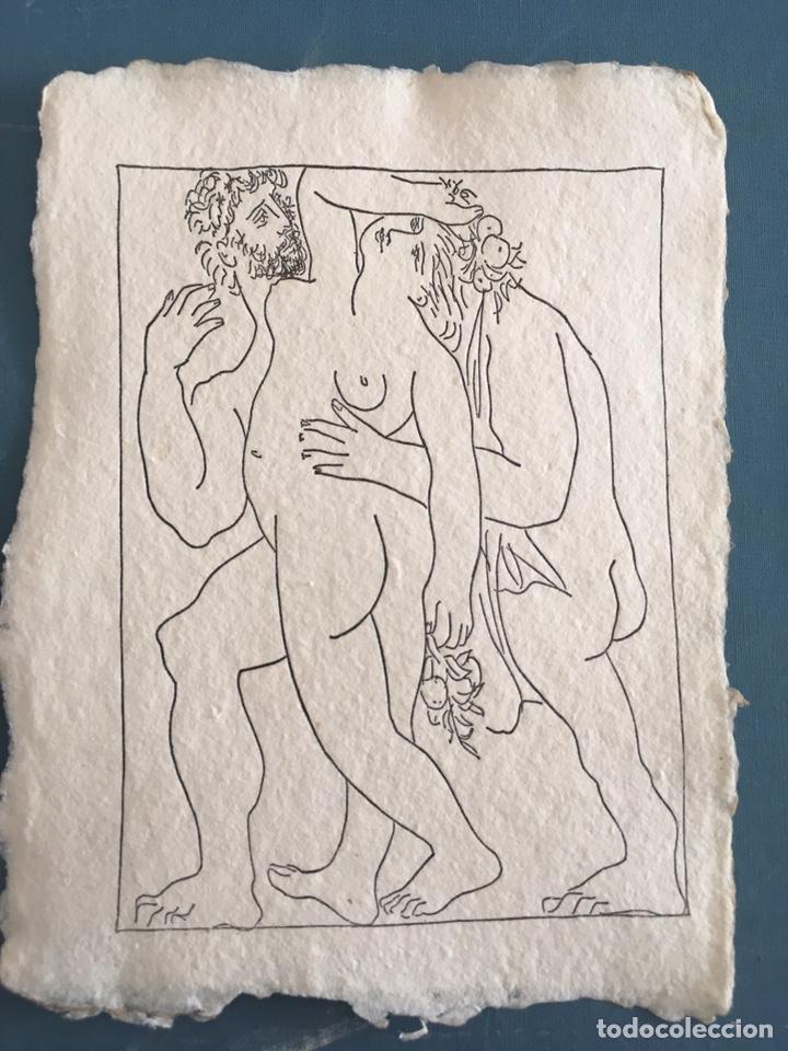 PICASSO INVITACIÓN EN PAPEL ALGODON (Arte - Varios Objetos de Arte)