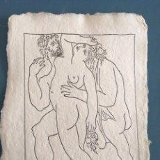 Varios objetos de Arte: PICASSO INVITACIÓN EN PAPEL ALGODON. Lote 222029837