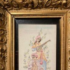 Varios objetos de Arte: MINIATURA SOBRE MARFIL. Lote 222061663