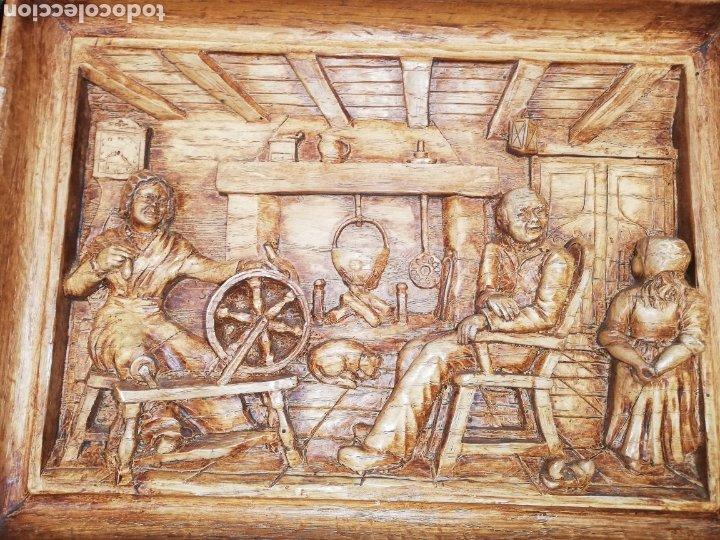 CUADRO DE MADERA TALLADO ... TRABAJO ARTESANAL.. MUY ELABORADO (Arte - Varios Objetos de Arte)