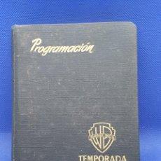 Arte: RARO Y EXCLUSIVA PROGRAMACION WARNER BROSS TEMPORADA 1954 1955. Lote 222328206