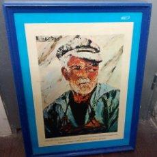 Varios objetos de Arte: REPRODUCCIÓN CUADRO MARINERO CELTA ELGGODO. Lote 222838377