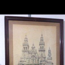 Varios objetos de Arte: CUADRO CATEDRAL DE SANTIAGO. Lote 222843102