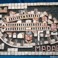 Varios objetos de Arte: CUADRO VINTAGE MADABA COLLAGE. Lote 222844848