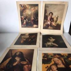 Varios objetos de Arte: LOTE DE LÁMINAS RELIGIOSAS. Lote 223343355