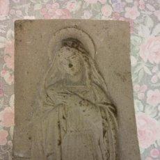 Arte: ORIGINAL. OBRA DE FRANCESC GASSÓ. VIRGEN MARIA. MOLDE EN YESO. MEDIDAS 8.5*6*1 CM.. Lote 223478191