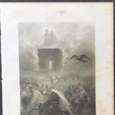 Varios objetos de Arte: 1 ILUSTRACION DE NAPOLEON BONAPARTE(B&N),REVUE DES MORTS. Lote 224528706