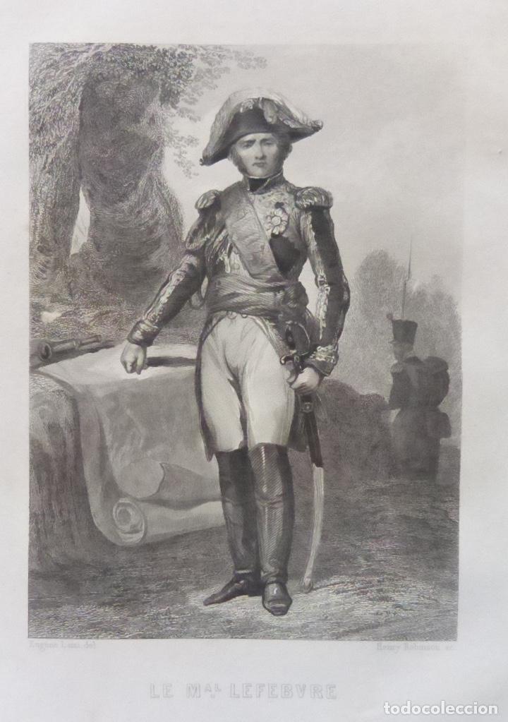 Varios objetos de Arte: 1 ilustracion de Napoleon Bonaparte(B&N),Le mariscal Lefebvre - Foto 2 - 224531190