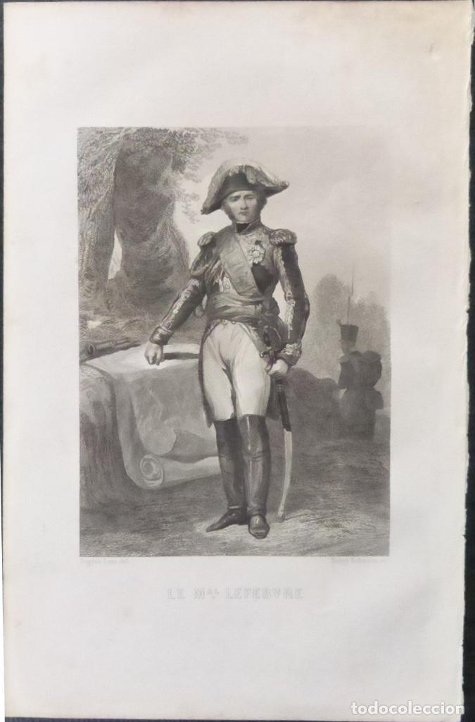 Varios objetos de Arte: 1 ilustracion de Napoleon Bonaparte(B&N),Le mariscal Lefebvre - Foto 4 - 224531190