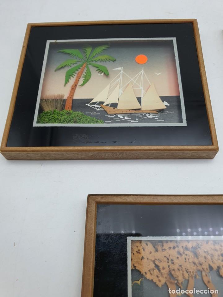 Varios objetos de Arte: LOTE PEQUEÑOS CUADROS EN CORCHO - Foto 2 - 224723617