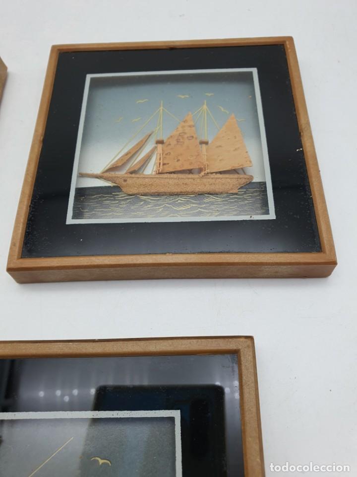 Varios objetos de Arte: LOTE PEQUEÑOS CUADROS EN CORCHO - Foto 3 - 224723617