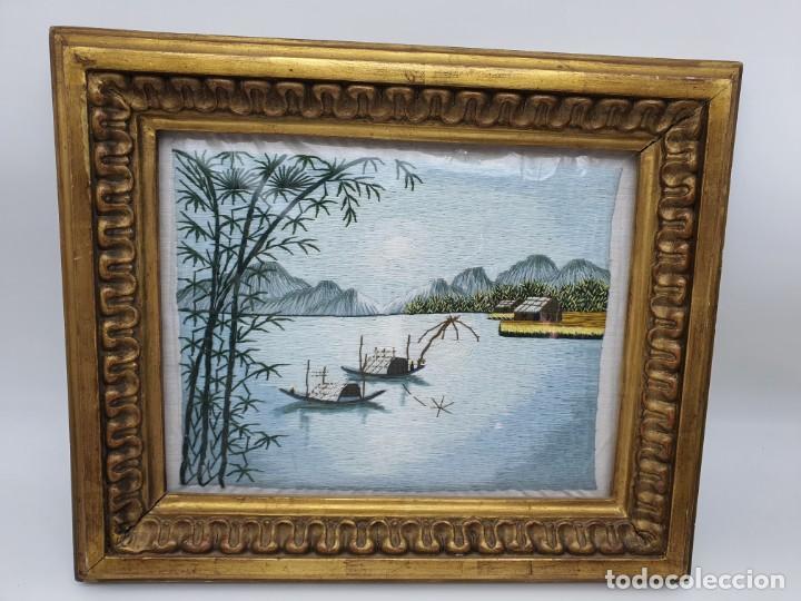 Varios objetos de Arte: CUADRO HECHO CON HILO DE SEDA - Foto 2 - 224725393