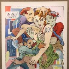 "Varios objetos de Arte: CEESEPE ""NOCHE CÁLIDA"" (1984). LÁMINA DE 24,5 X 32 CMS.. Lote 224838603"