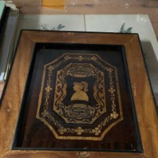 Varios objetos de Arte: CUADRO DE MARQUETERIA DE BOJ. Lote 225165915
