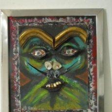 Varios objetos de Arte: ARTE CONTEMPORANEO GENIAL PINTURA CUADRO BIGOTE DALI FIRMADO GASCON. Lote 225363235