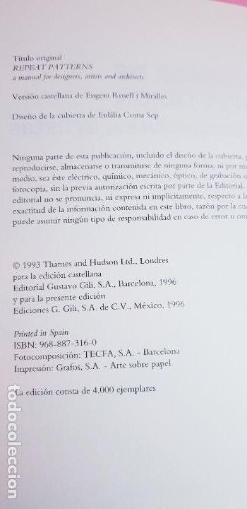 Varios objetos de Arte: LIBRO-DISEÑOS DE REPETICIÓN-MANUAL PARA DISEÑADORES,ARTISTAS Y ARQUITECTOS-PETER PHILLIPS-G.BUNCE - Foto 4 - 225921125