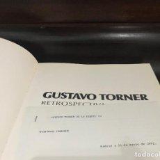 Varios objetos de Arte: CARTA FIRMADA, CURRICULUM VITAE Y CATALOGO DEL PINTOR GUSTAVO TORNER.. Lote 220576118