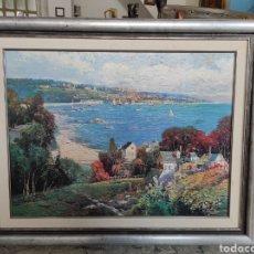 Varios objetos de Arte: MING FENG. IMPRESIÓN CON BARNIZ EFECTO PINTURA, ENMARCADO. 100X81CM. Lote 228597860