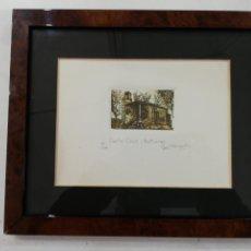 Varios objetos de Arte: LITOGRAFÍA ERMITA O IGLESIA DE SANTA CRUZ ASTURIAS FIRMADO Y NUMERADO. Lote 229171310