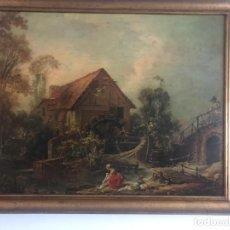 Varios objetos de Arte: ANTIGÜO ÓLEO PINTADO SOBRE COBRE Y ENMARCADO , ANÓNIMO PINTURA CLÁSICA. Lote 229366655