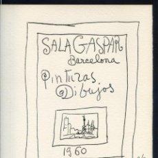 Arte: FELICITACIÓN NAVIDAD. *PICASSO* SALA GASPAR, BARCELONA NAVIDAD 1960. MEDS: 183X241 MMS.. Lote 252158435