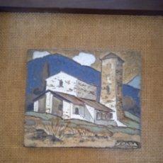 Art: AZULEJO PINTADO GRES OBRA DEL CERAMISTA XAVIER CABA. Lote 229695660