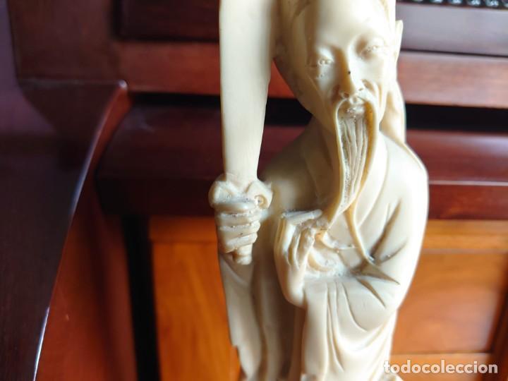 Varios objetos de Arte: TALLA SIMIL MARFIL Y EBANO VIEJO CHINO - Foto 3 - 230000965