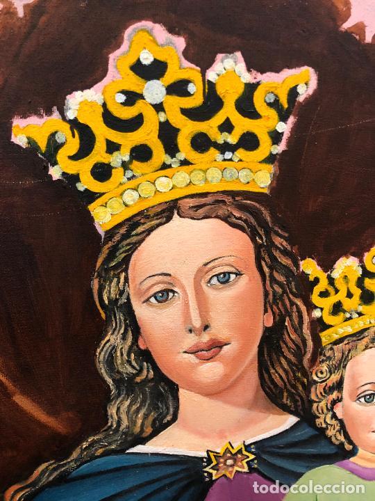 Varios objetos de Arte: PINTURA SOBRE LIENZO VIRGEN MARIA AUXILIADORA - MEDIDA 74X60 CM - RELIGIOSO - Foto 3 - 230358885