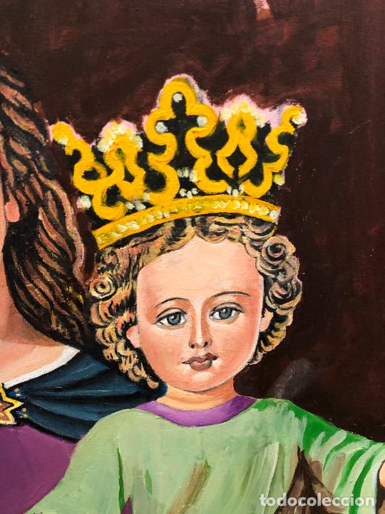 Varios objetos de Arte: PINTURA SOBRE LIENZO VIRGEN MARIA AUXILIADORA - MEDIDA 74X60 CM - RELIGIOSO - Foto 5 - 230358885