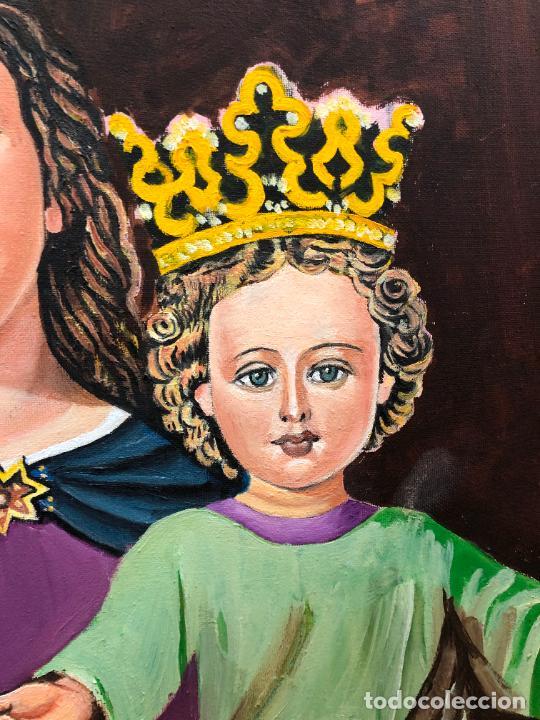 Varios objetos de Arte: PINTURA SOBRE LIENZO VIRGEN MARIA AUXILIADORA - MEDIDA 74X60 CM - RELIGIOSO - Foto 8 - 230358885