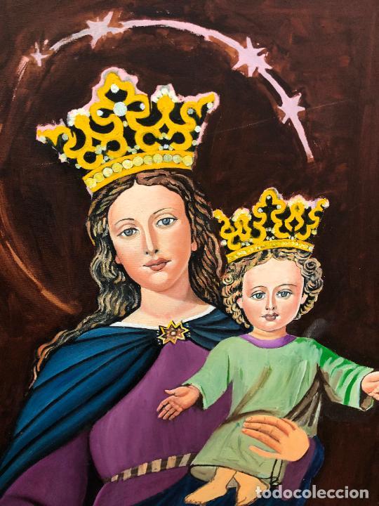 Varios objetos de Arte: PINTURA SOBRE LIENZO VIRGEN MARIA AUXILIADORA - MEDIDA 74X60 CM - RELIGIOSO - Foto 9 - 230358885
