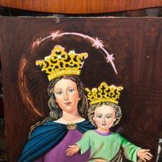 Varios objetos de Arte: PINTURA SOBRE LIENZO VIRGEN MARIA AUXILIADORA - MEDIDA 74X60 CM - RELIGIOSO. Lote 230358885