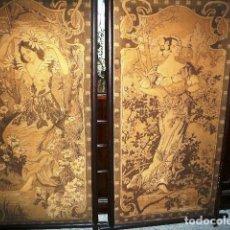 Varios objetos de Arte: PAREJA DE TAPICES MODERNISTAS. PRINCIPIOS DEL XX.. Lote 230358995